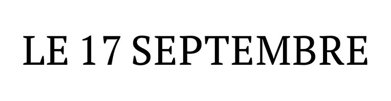 Le 17 Septembre
