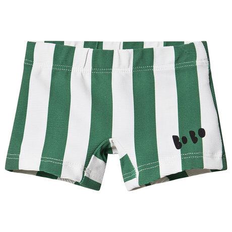 Green Striped Swim Boxer