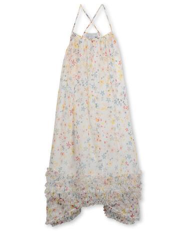 SPLASH FLOWERS SILK DRESS