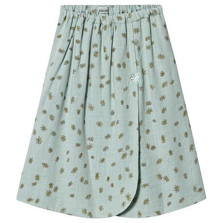 All Over Daisy Wrap Midi Skirt