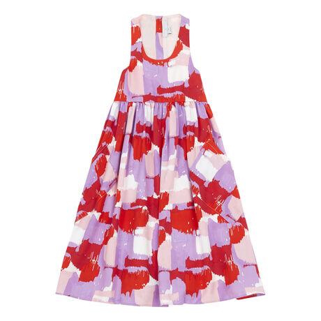 Colourblock maxi dress Pink