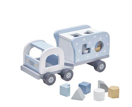 Block sorter truck blue