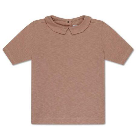 Repose t-shirt with collar, powder creme