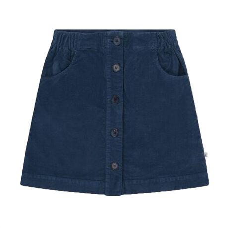 A line skirt dark sea blue