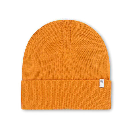 Knitted hat warm yellow