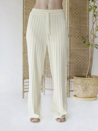 RIBBED PANTS IVORY