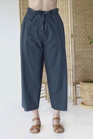 SEERSUCKER TUCK PANTS