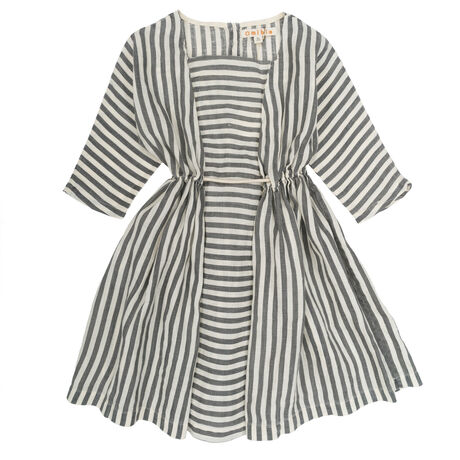 SOPHIA Dress Flax Stripes
