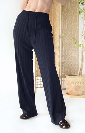 RIBBED PANTS NAVY