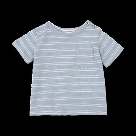 LUCA t-shirt light blue/white
