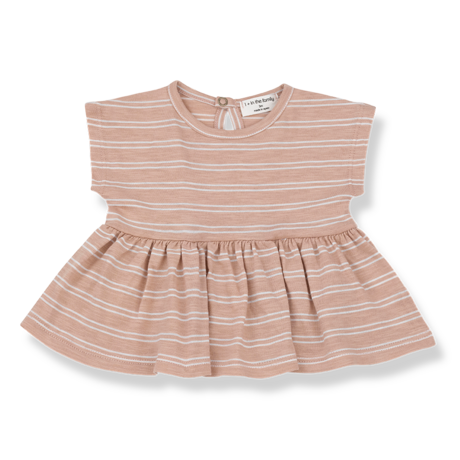 PETRA blouse argila/white