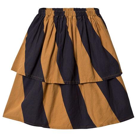 Big Stripes Midi Skirt