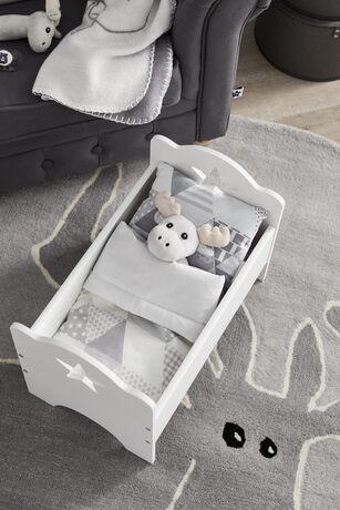 Dolls bed white STAR