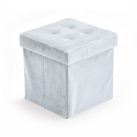 Storage box velvet light blue