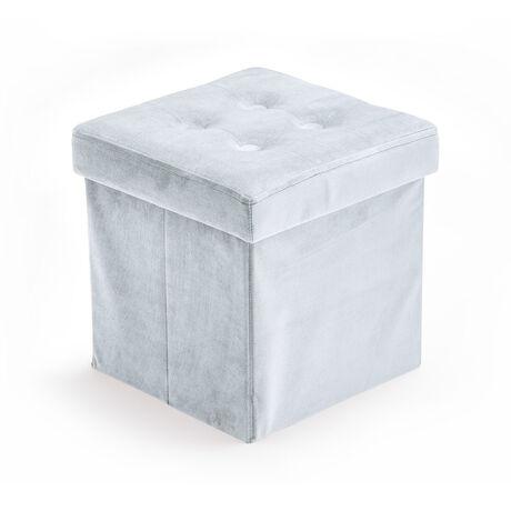 Storage box velvet light blue