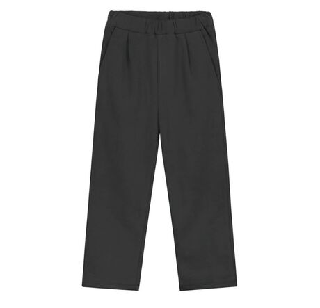Relaxed Pleated Trousers Nearly Black