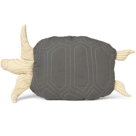 Turtle Quilted Cushion Deep Forest