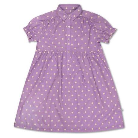 Repose ams 46. dreamy dress, greyish lavender polka dot