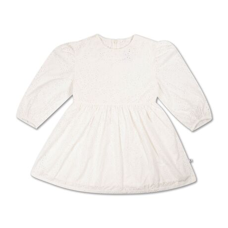 Puffy dress crisp white