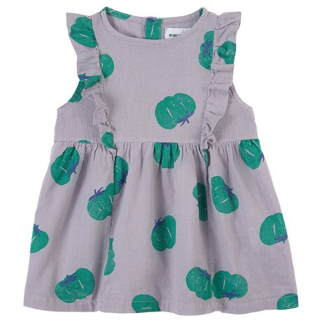 Tomatoes All Over Ruffle Dress