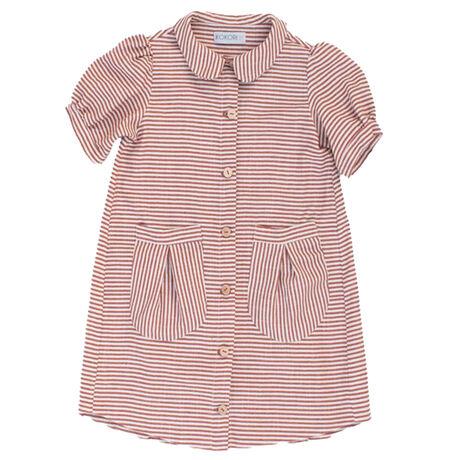 Cherry Dress Terracotta stripes
