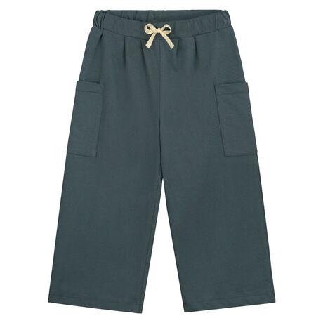 Wide Leg Trousers Blue Grey