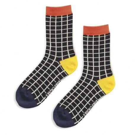 Black Checkered short socks