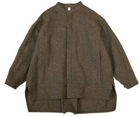 cotton tweed work shirts brown