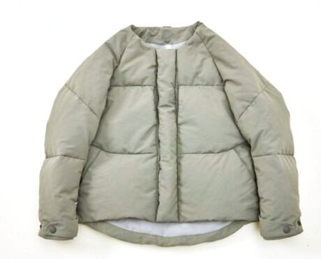 separate down jacket moss