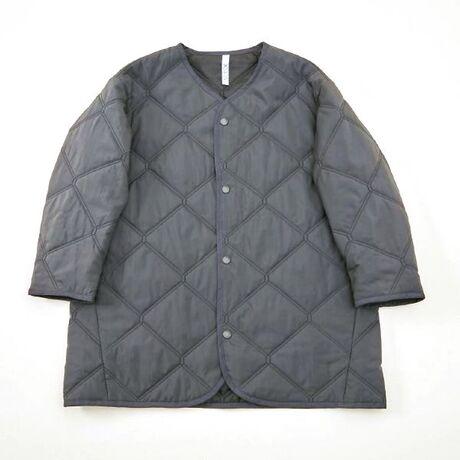 quilt mitten coat charcoal