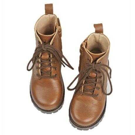 Lace-up Boot Cognac kids