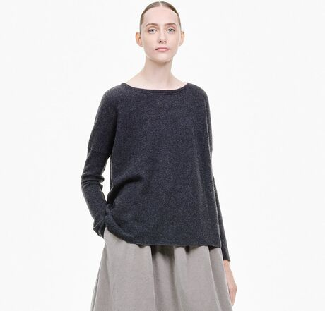 BOATNECK SWEATER WS - CHARCOAL